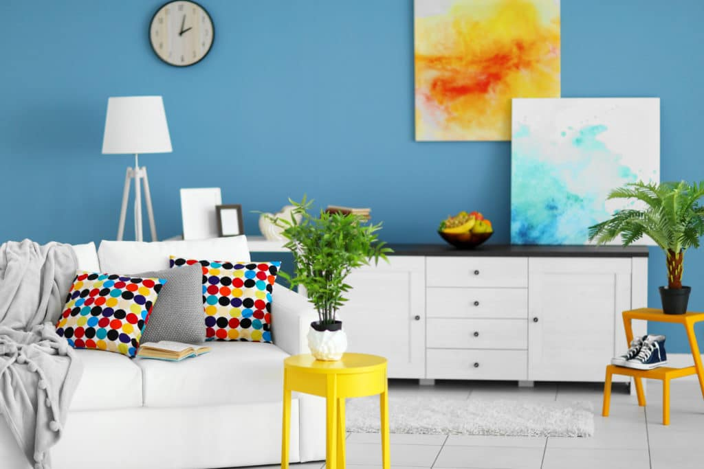 Cobalt Blue and White Furniture