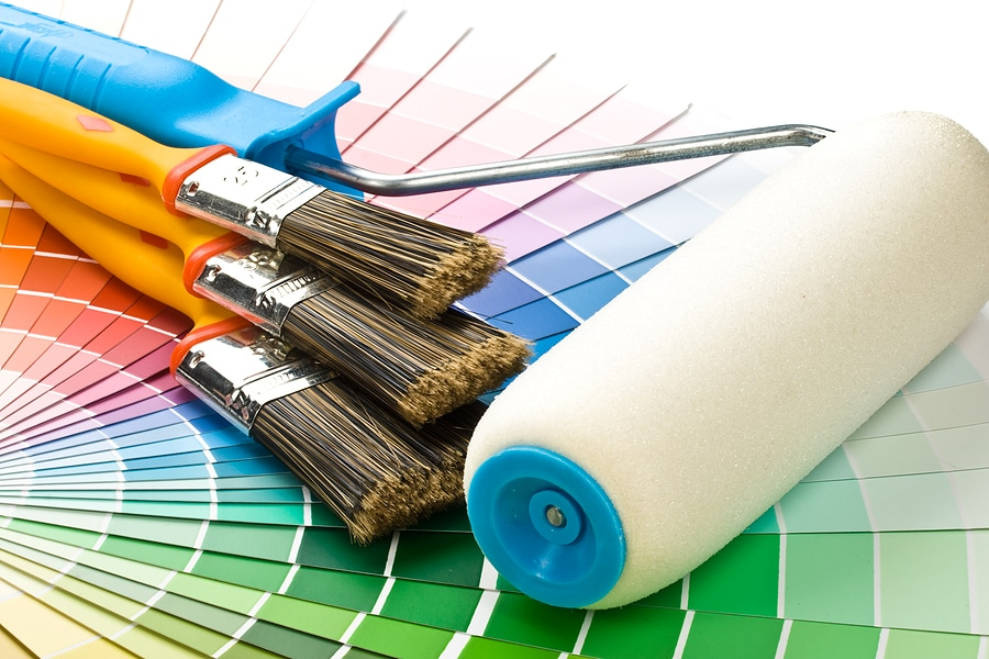 bigstock Brushes And Paint Roller 3884572 1 - Favorite Accent Paint Colors