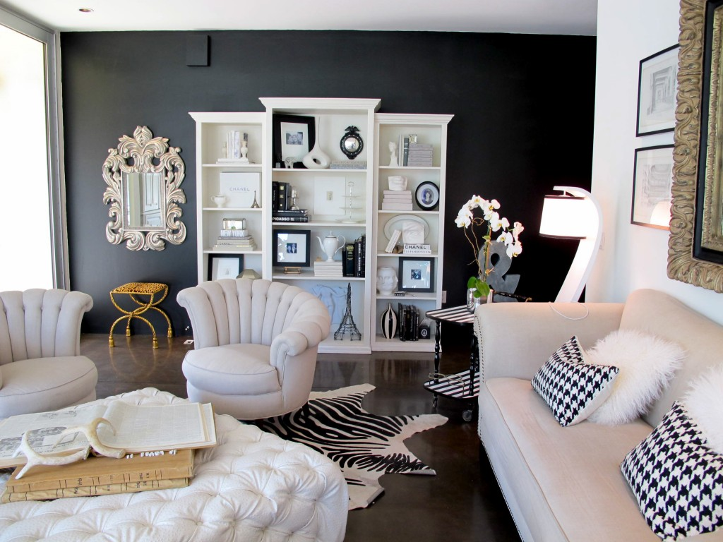 Black Accent Wall Rugh Design