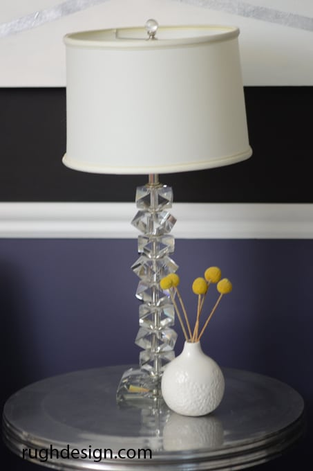 SW Mineral Gray with SW Caviar side table and lamp - Caviar