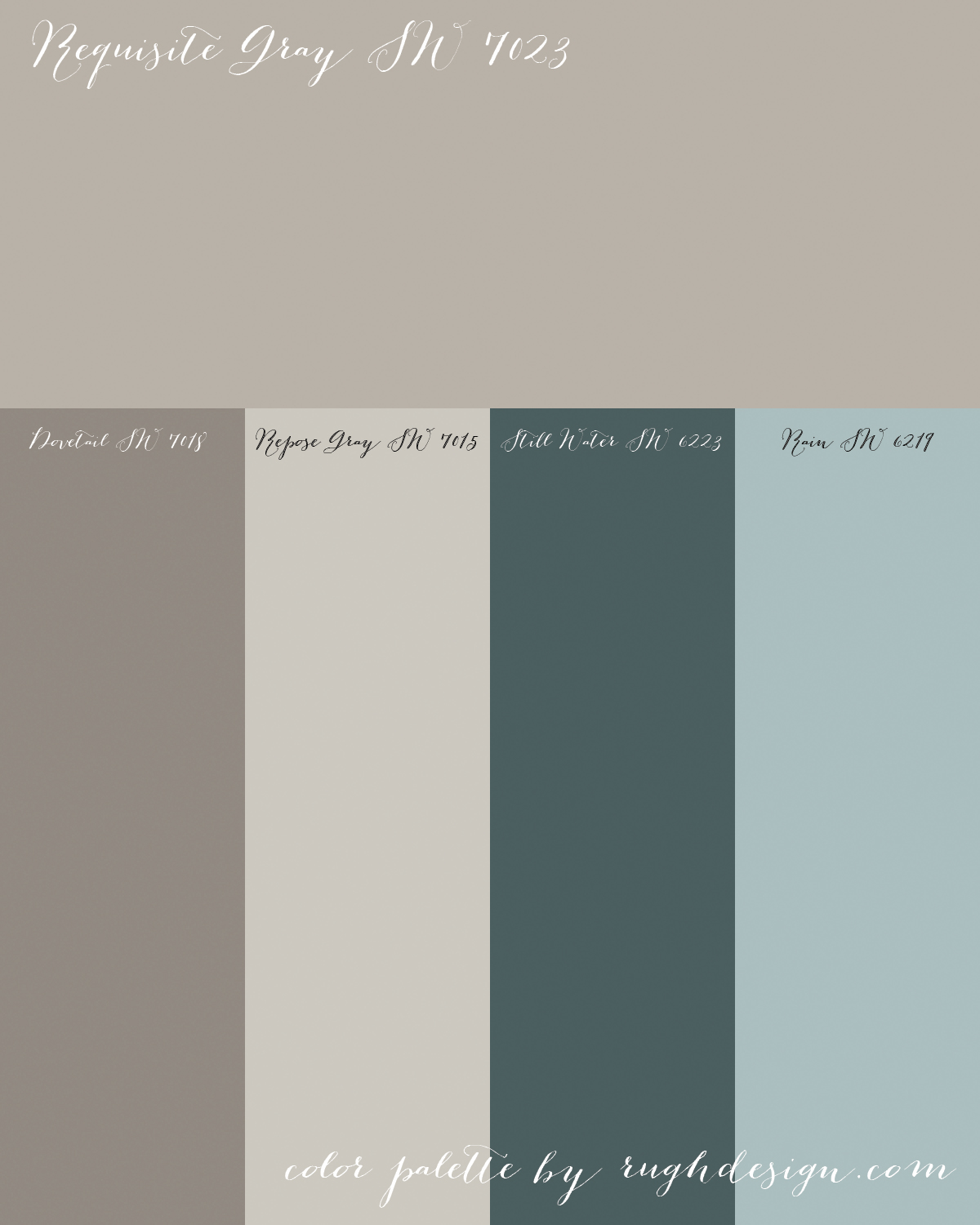Requisite Gray Sw 7023 With A Complementary Color Scheme