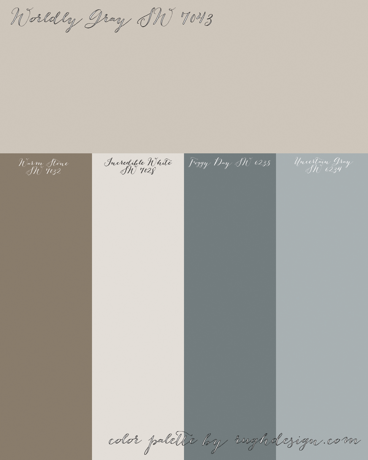 worldly gray sw 7043 with a complementary color scheme rugh design. Black Bedroom Furniture Sets. Home Design Ideas