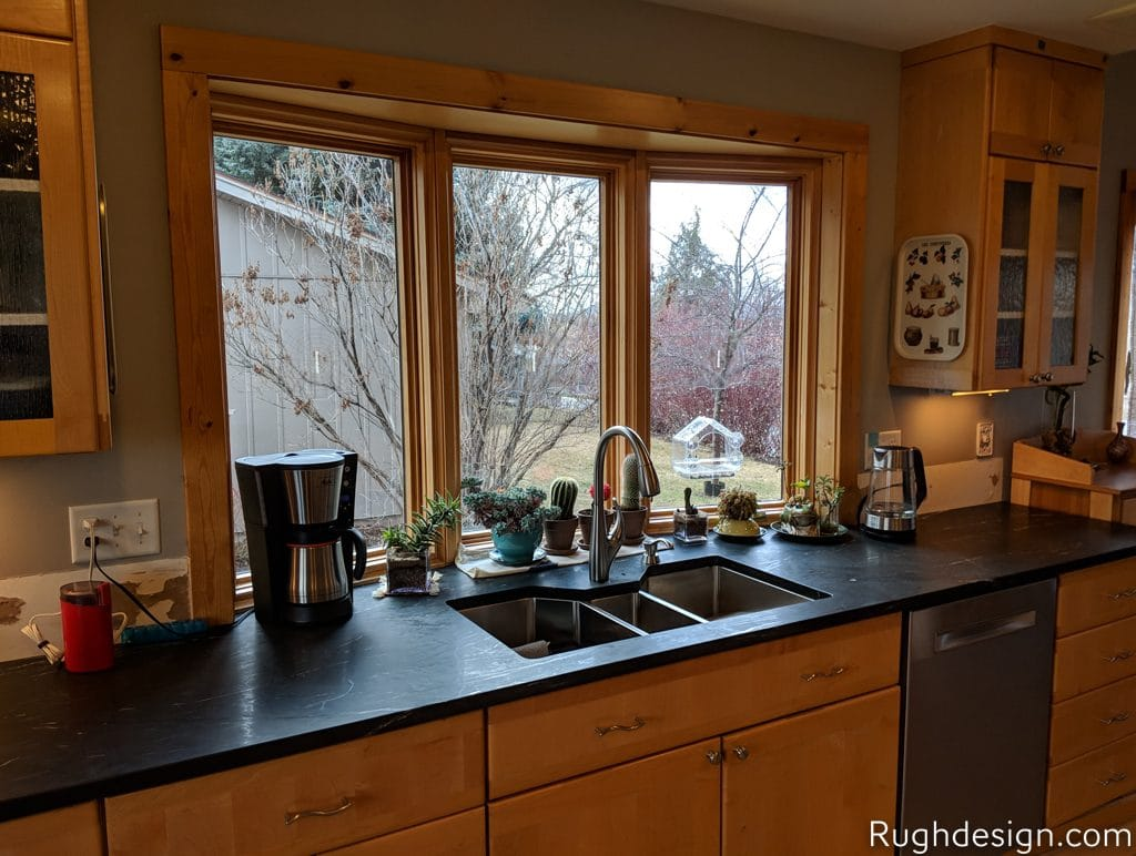 Mindful Gray SW 7016 kitchen