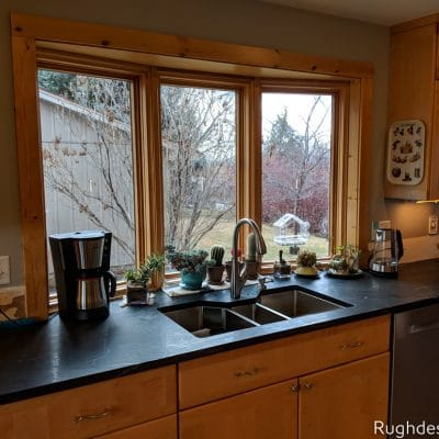 Mindful Gray SW 7016 kitchen