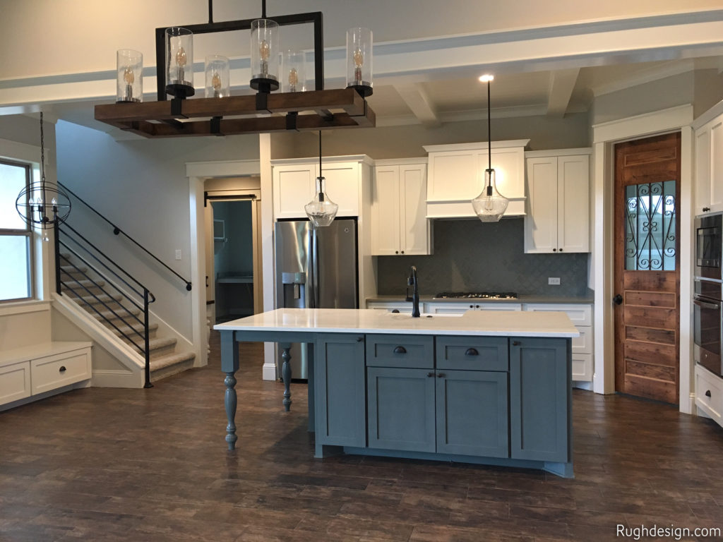 Agreeable Gray SW 7029 on walls with Cityscape SW 7067 island and Extra White SW 7006 trim