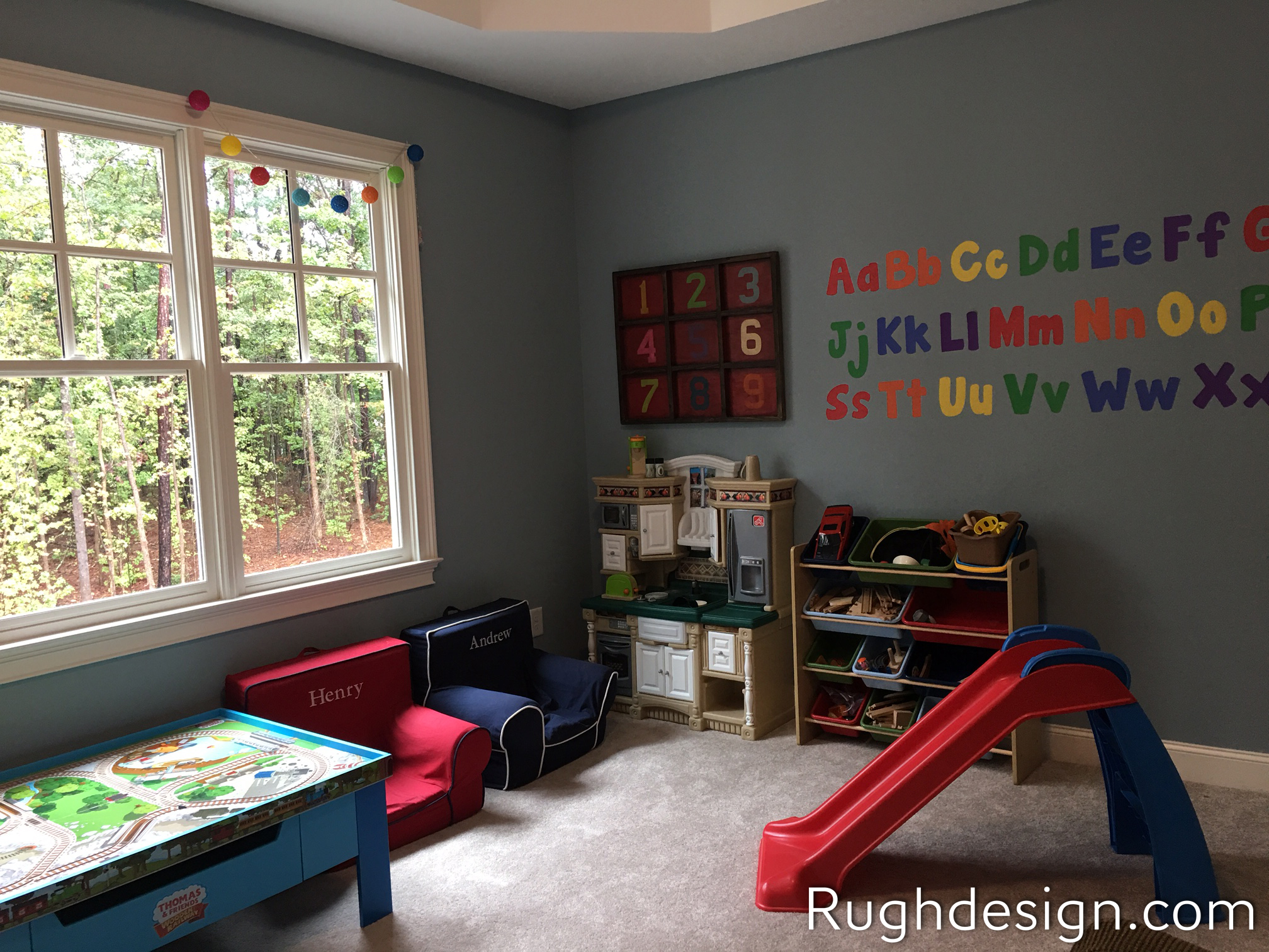 Meditative SW 6227 in playroom