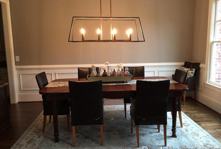 Mega Greige SW 7031 in dining room