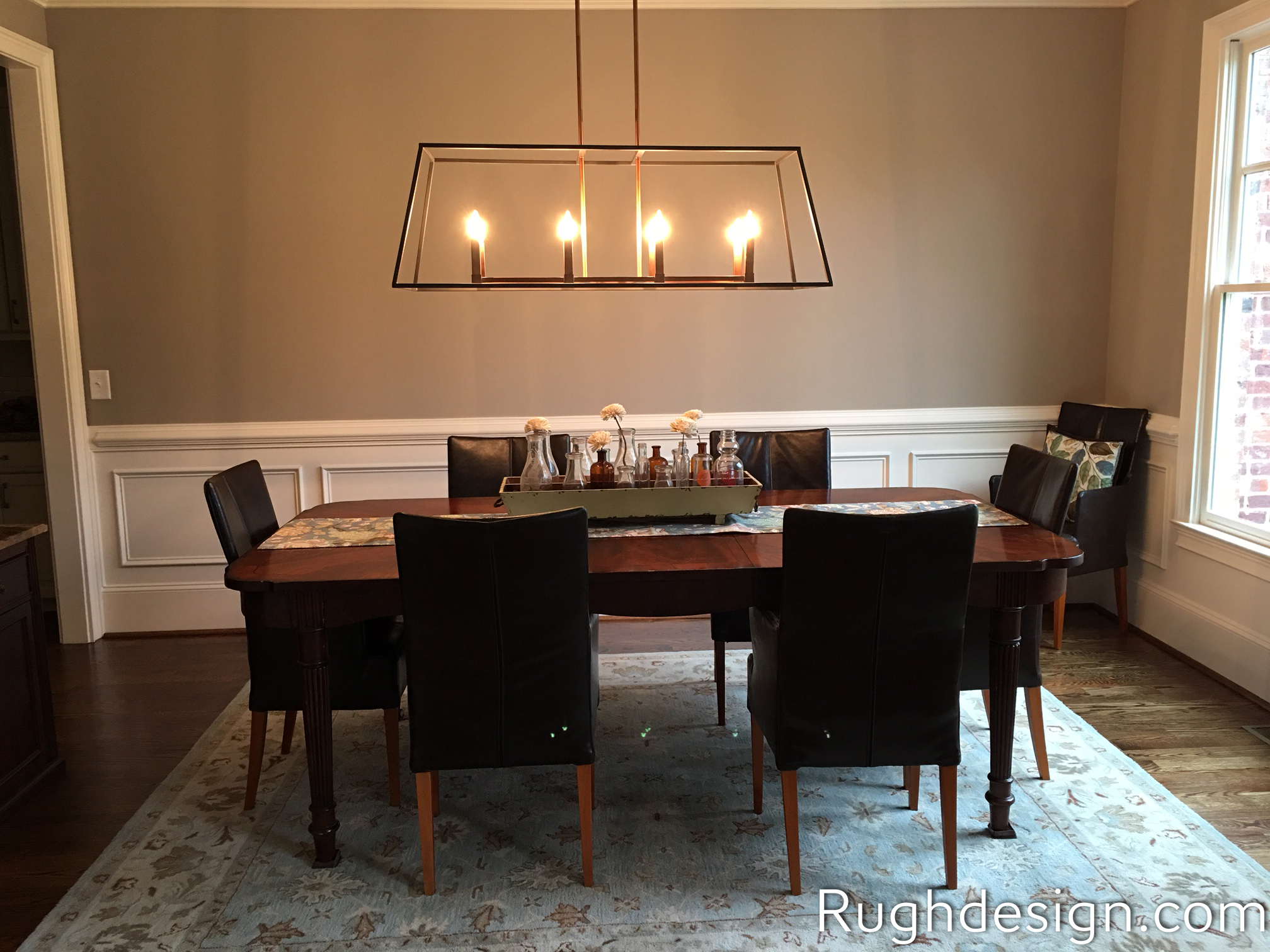 Mega Greige SW 7031 in dining room