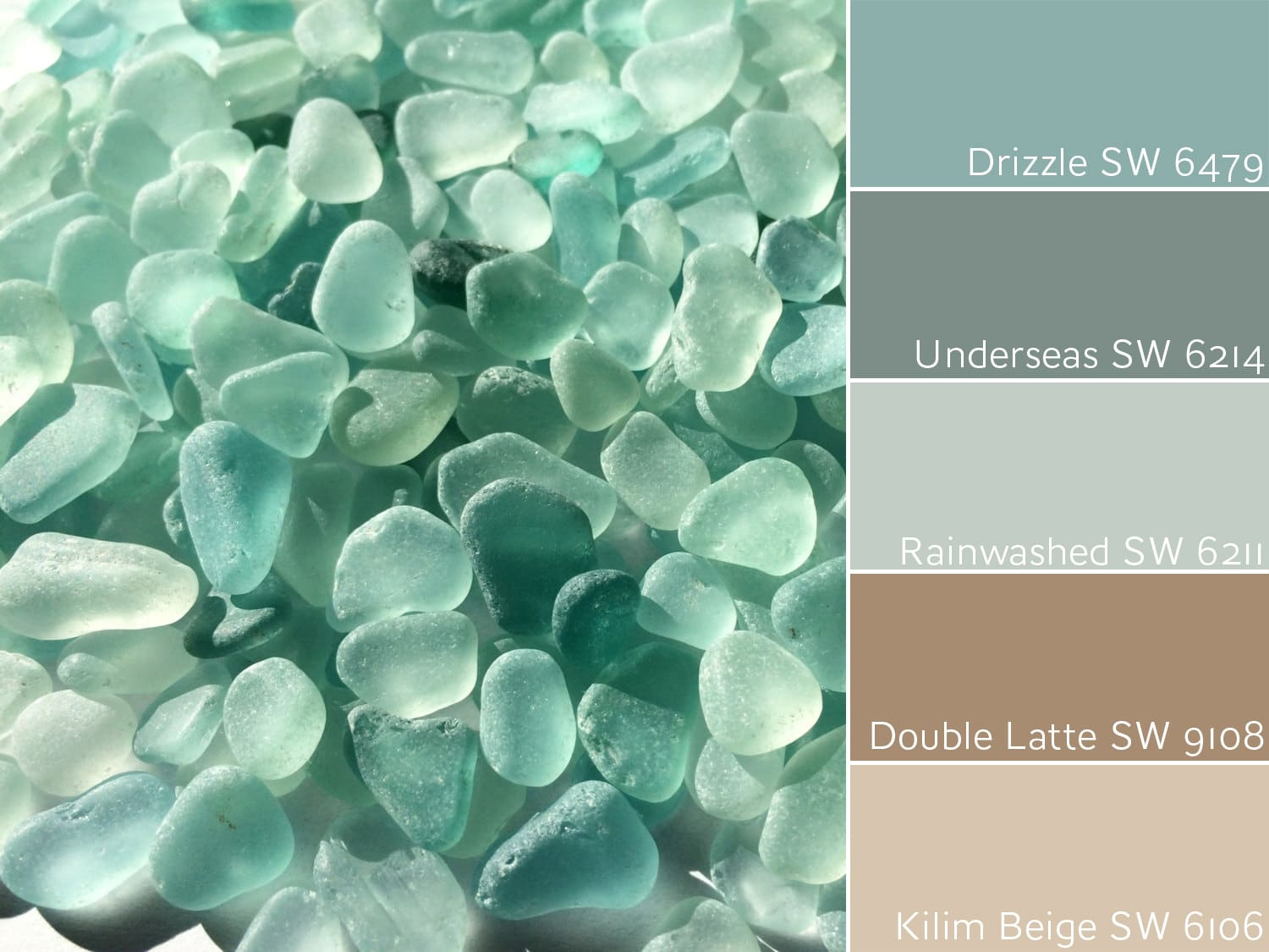 Drizzle SW 6479 Sea Glass Inspiration