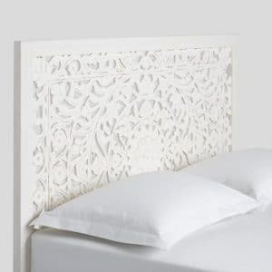 Whitewash Carved Zaria Headboard