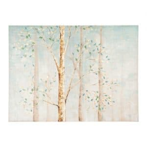 Aqua Trees with Gold Foil Canvas Art Print from Kirkland's