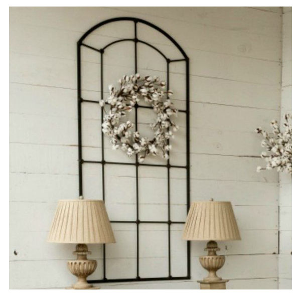 Rustic Farmhouse Metal Window Frame from Antique Farm House