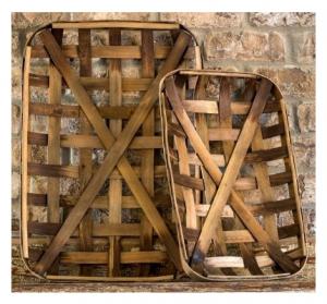 Tobacco Basket from Barn Wood