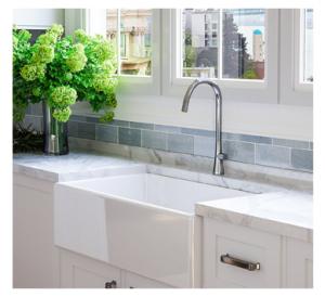 Modern Farmhouse Kitchen Sink in White from Fossil Blu