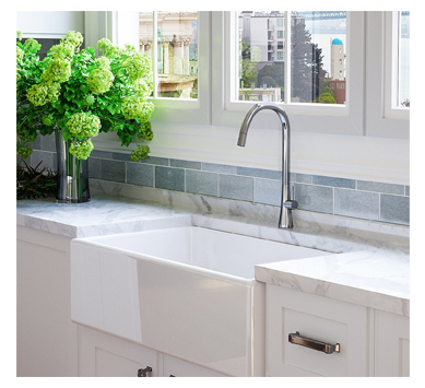 Modern Farmhouse Kitchen Sink in White from Fossil Blu