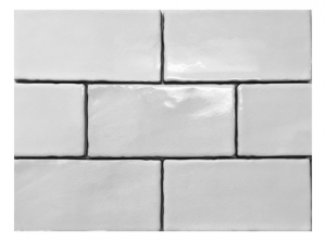 White Crackled Ceramic Subway Tile Backsplash from Squarefeet Depot