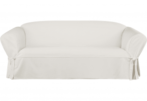 Sure Fit Essential Twill Sofa Slipcover with Scotchgard Protection