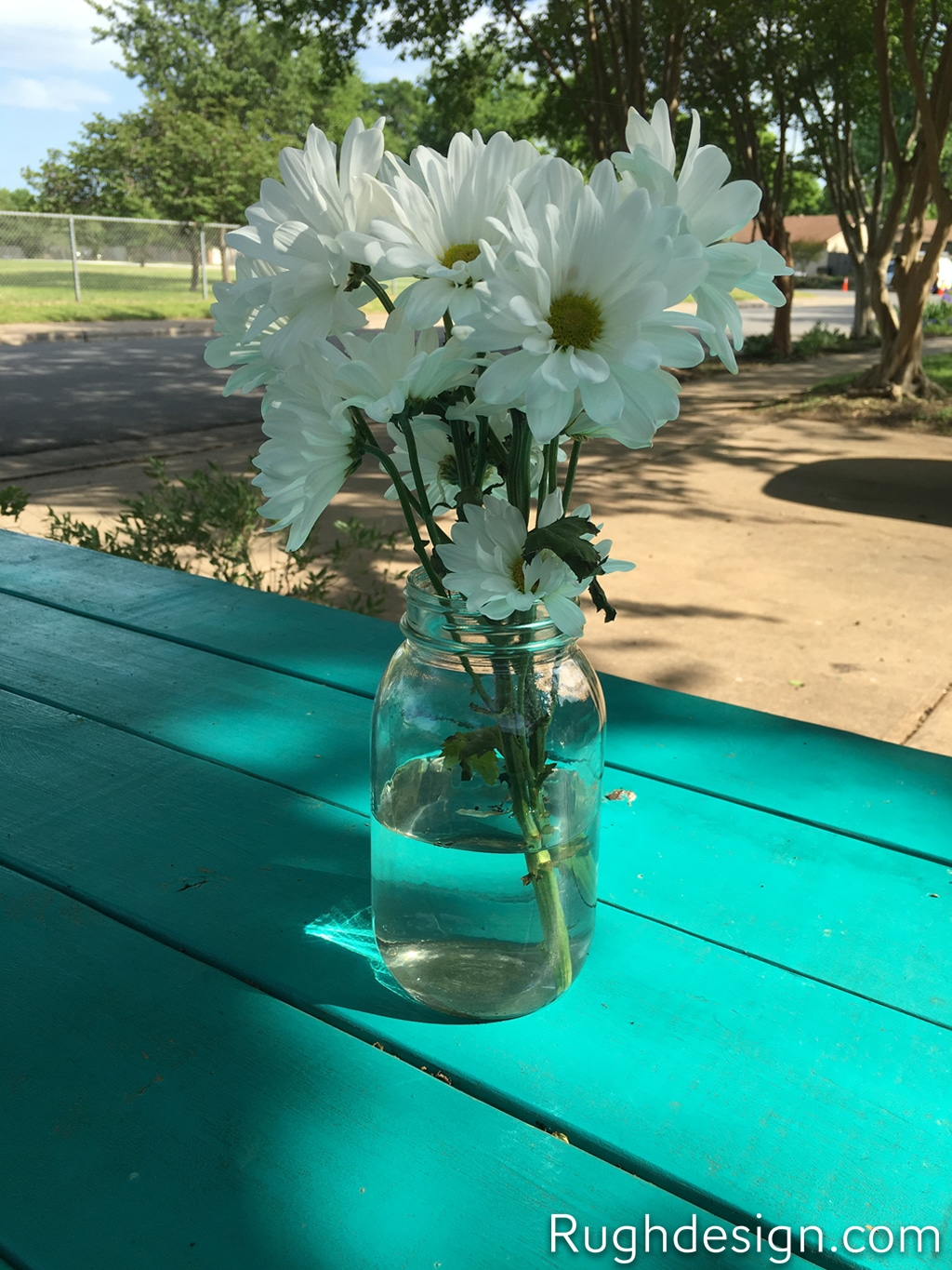 Nifty Turquoise SW 6941 picnic table