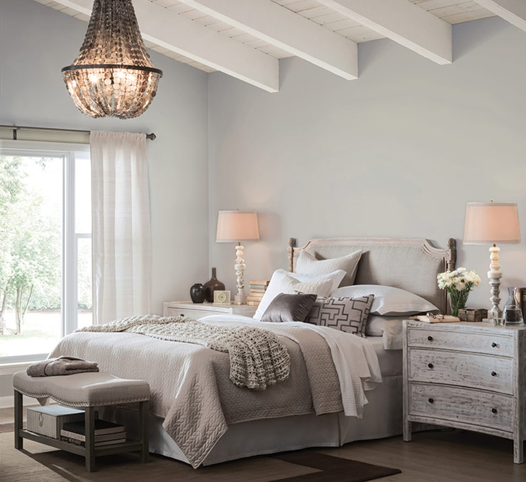Light French Gray SW 0055 in master bedroom