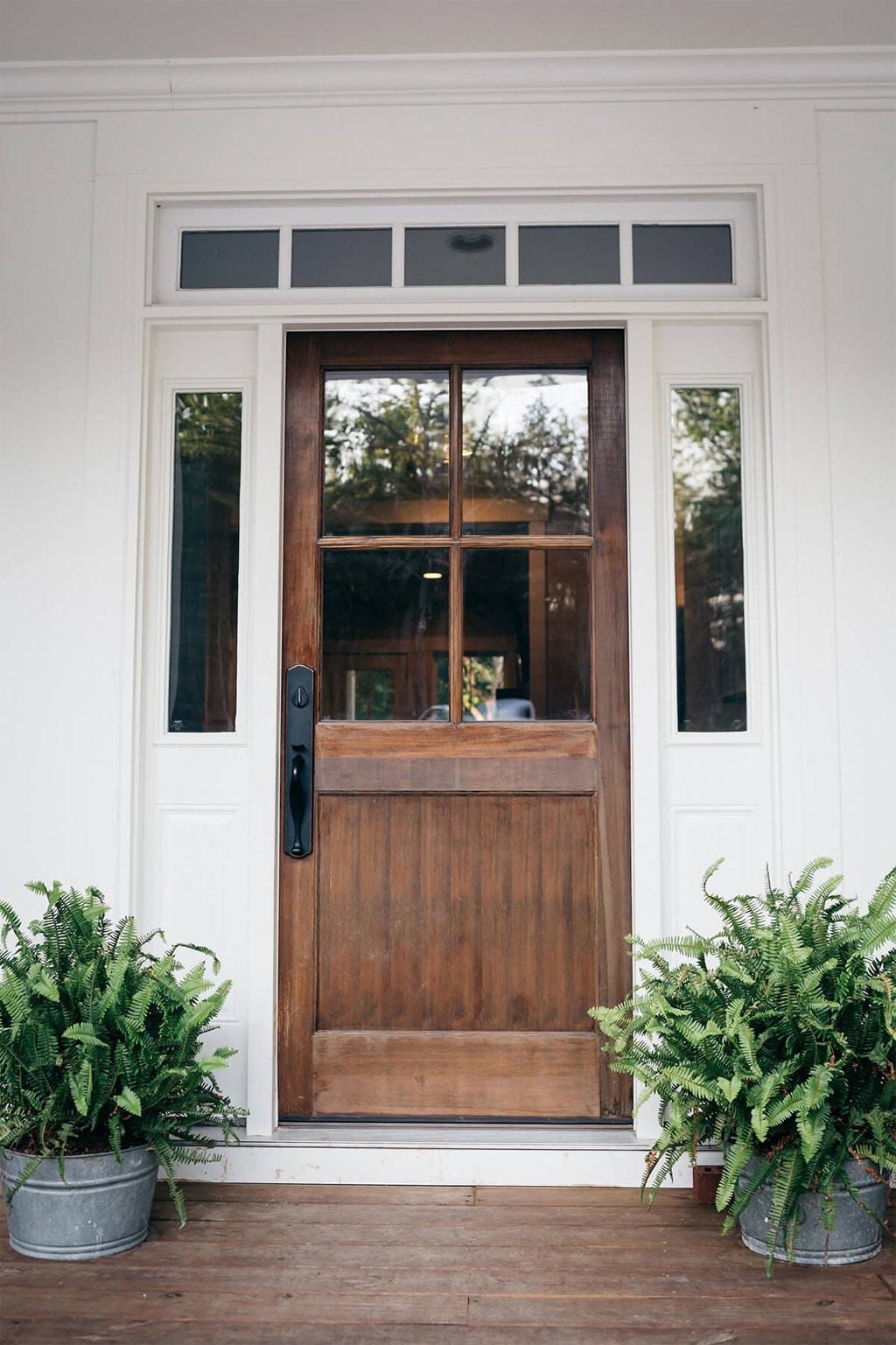 Wood Farmhouse front door from Southern Weddings