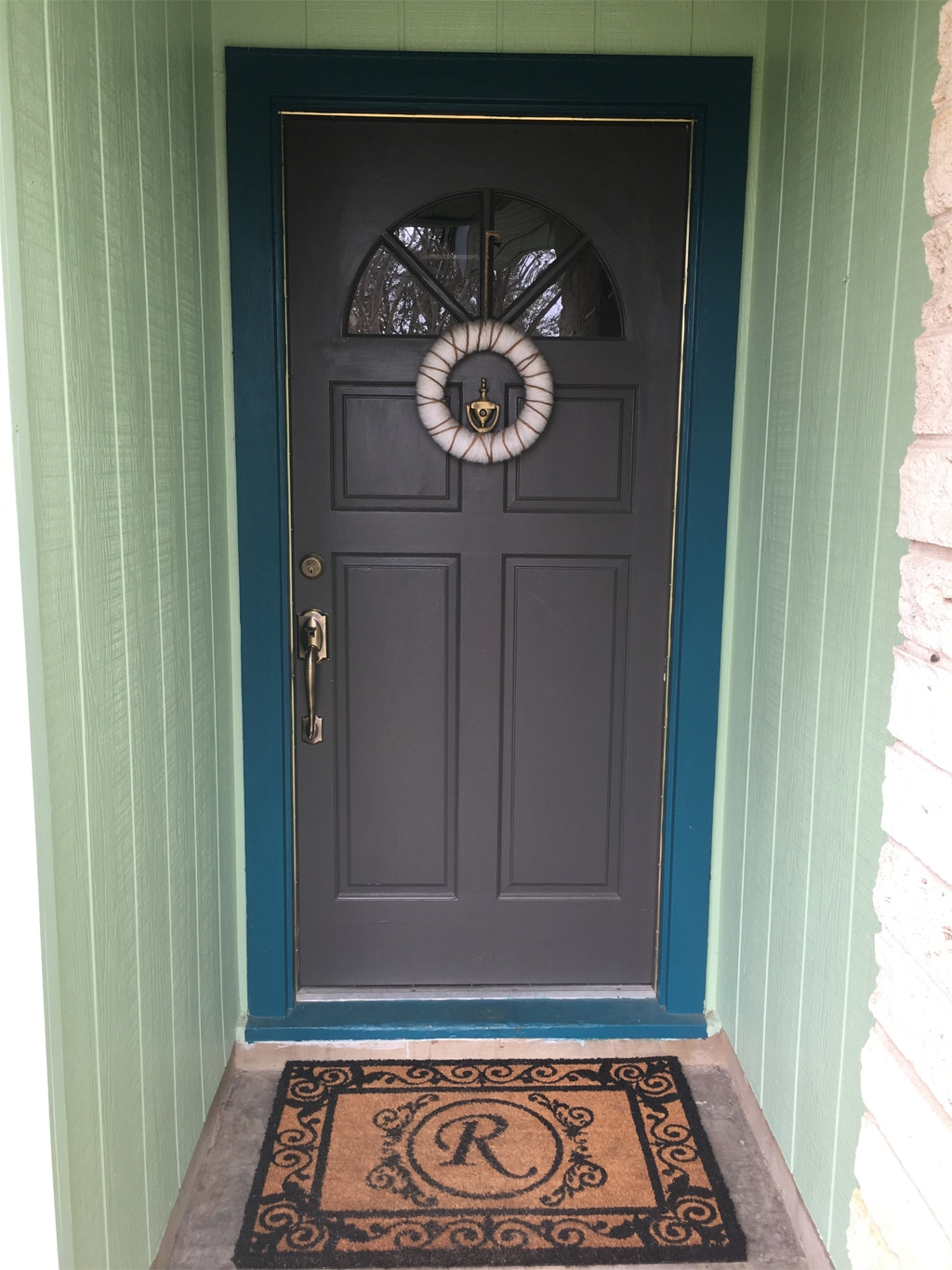 My front door using Urbane Bronze SW 7048