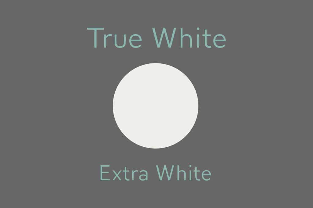 04 true white chart - The Best White Paint Colors: Undertones Explained