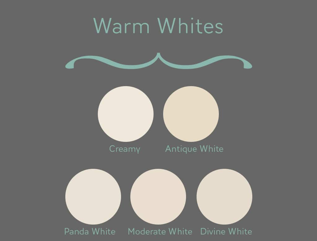 14 warm whites chart - The Best White Paint Colors: Undertones Explained