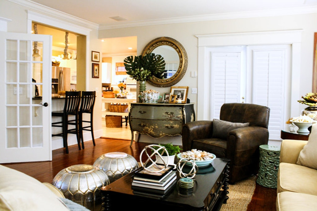 Dover White on living room walls to create a warm and cozy feel by Mina Brinkey