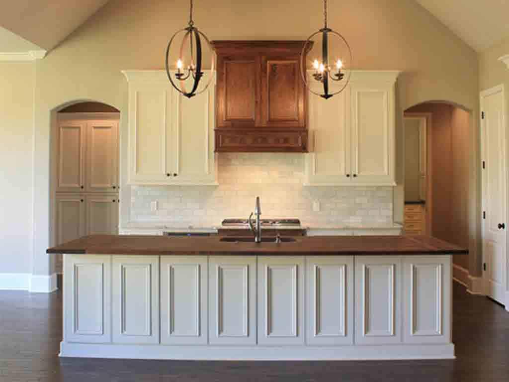 Greek Villa on kitchen cabinets from McKinney Homes