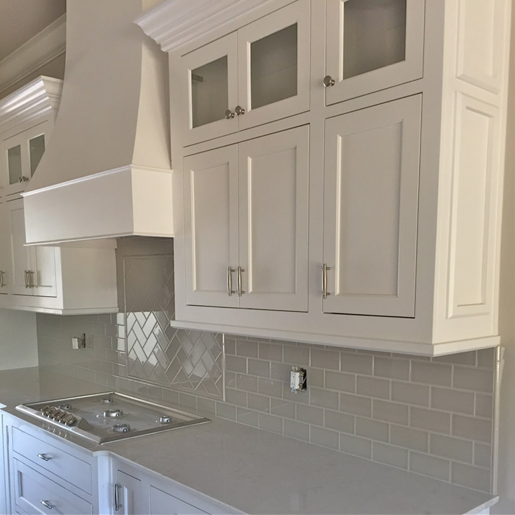 Snowbound on kitchen cabinets from Our Vintage Nest - 30 Cabinet Colors that will Rejuvenate your Kitchen