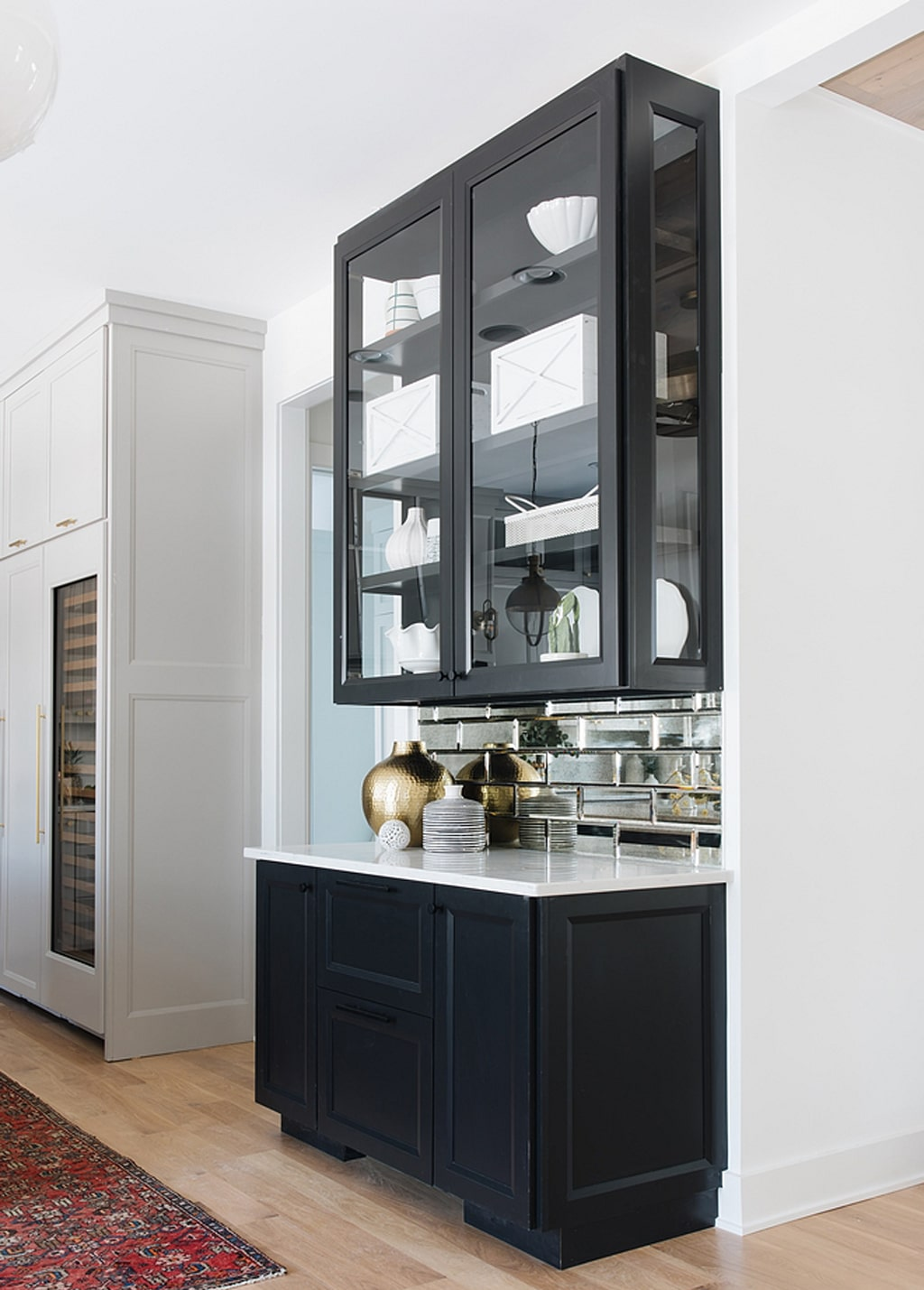 Tricorn Black on cabinets by M House Development - 30 Cabinet Colors that will Rejuvenate your Kitchen