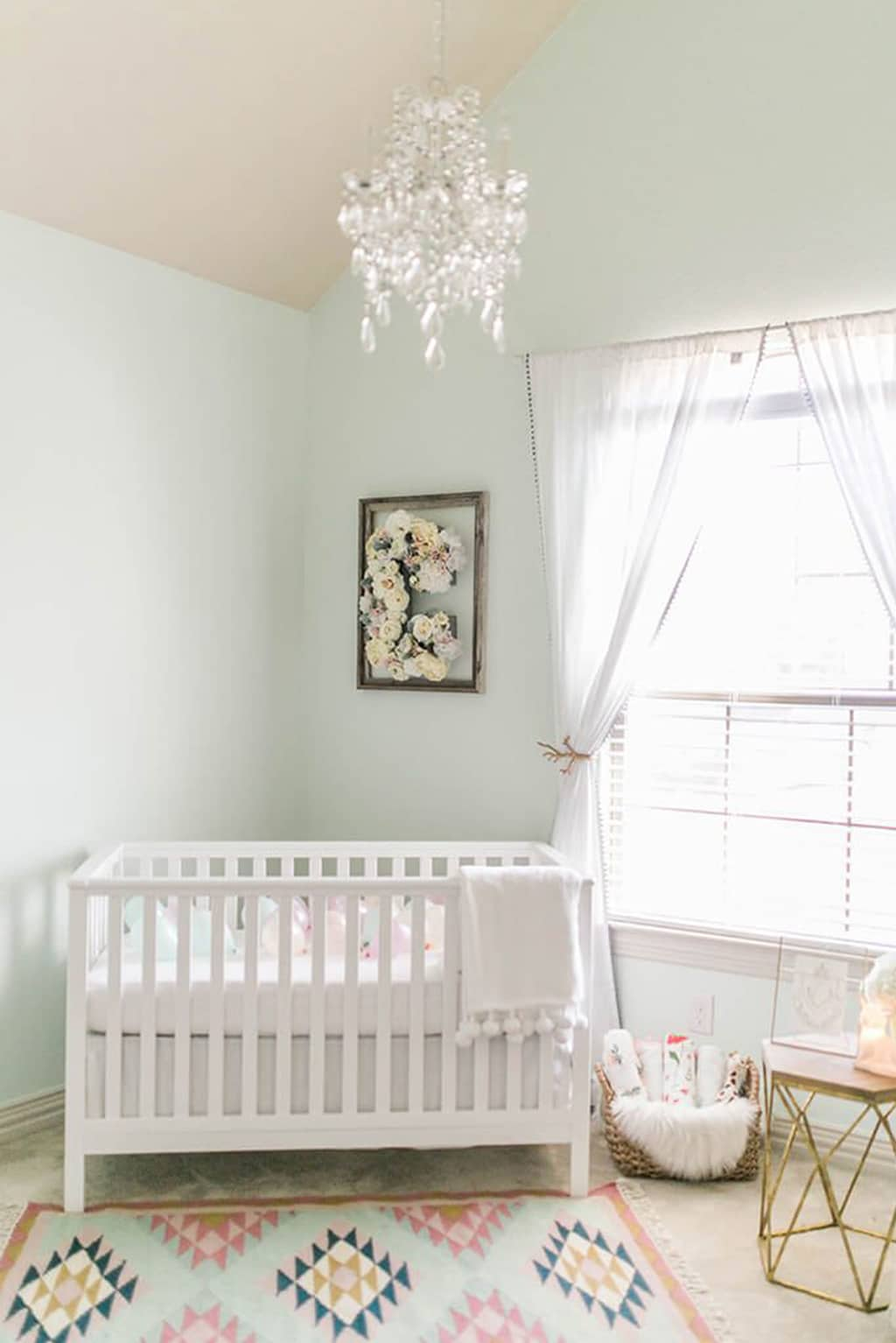 White Mint in a nursery from Glitter Guide