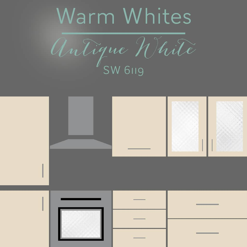 antique white cabinets - 30 Cabinet Colors that will Rejuvenate your Kitchen