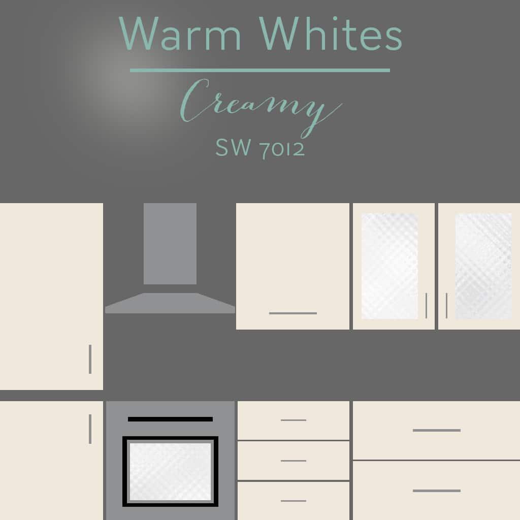 creamy cabinets
