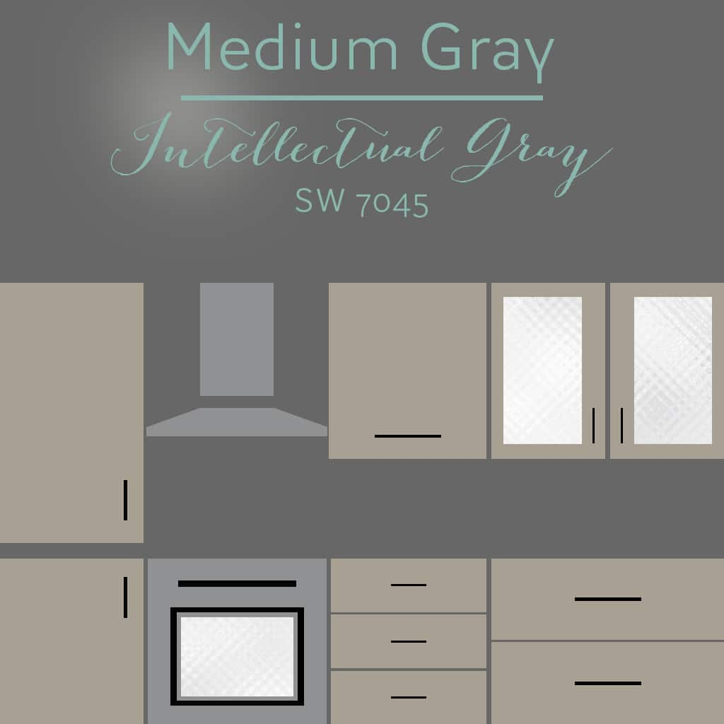 intellectual gray cabinets