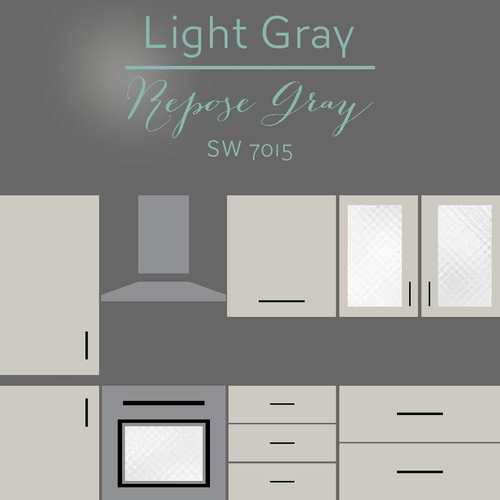 repose gray cabinets