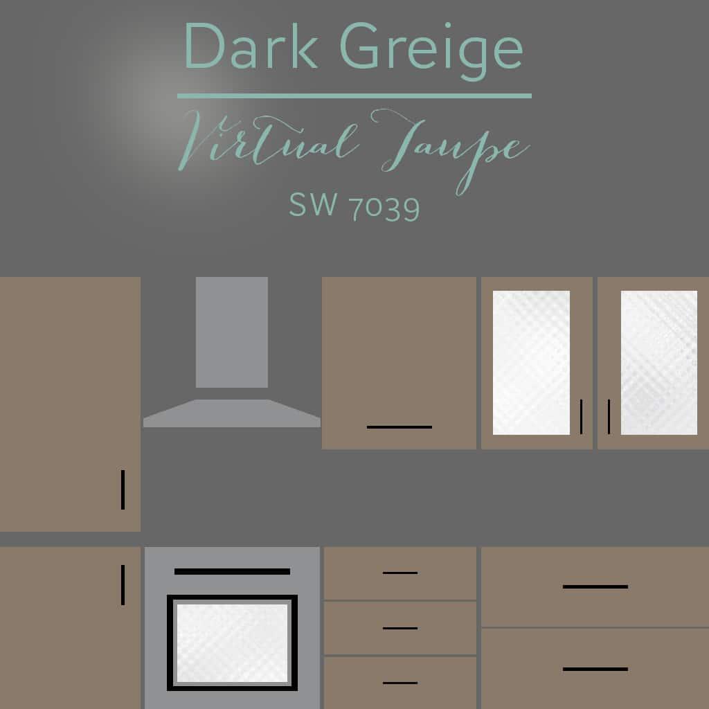 virtual taupe cabinets - 30 Cabinet Colors that will Rejuvenate your Kitchen
