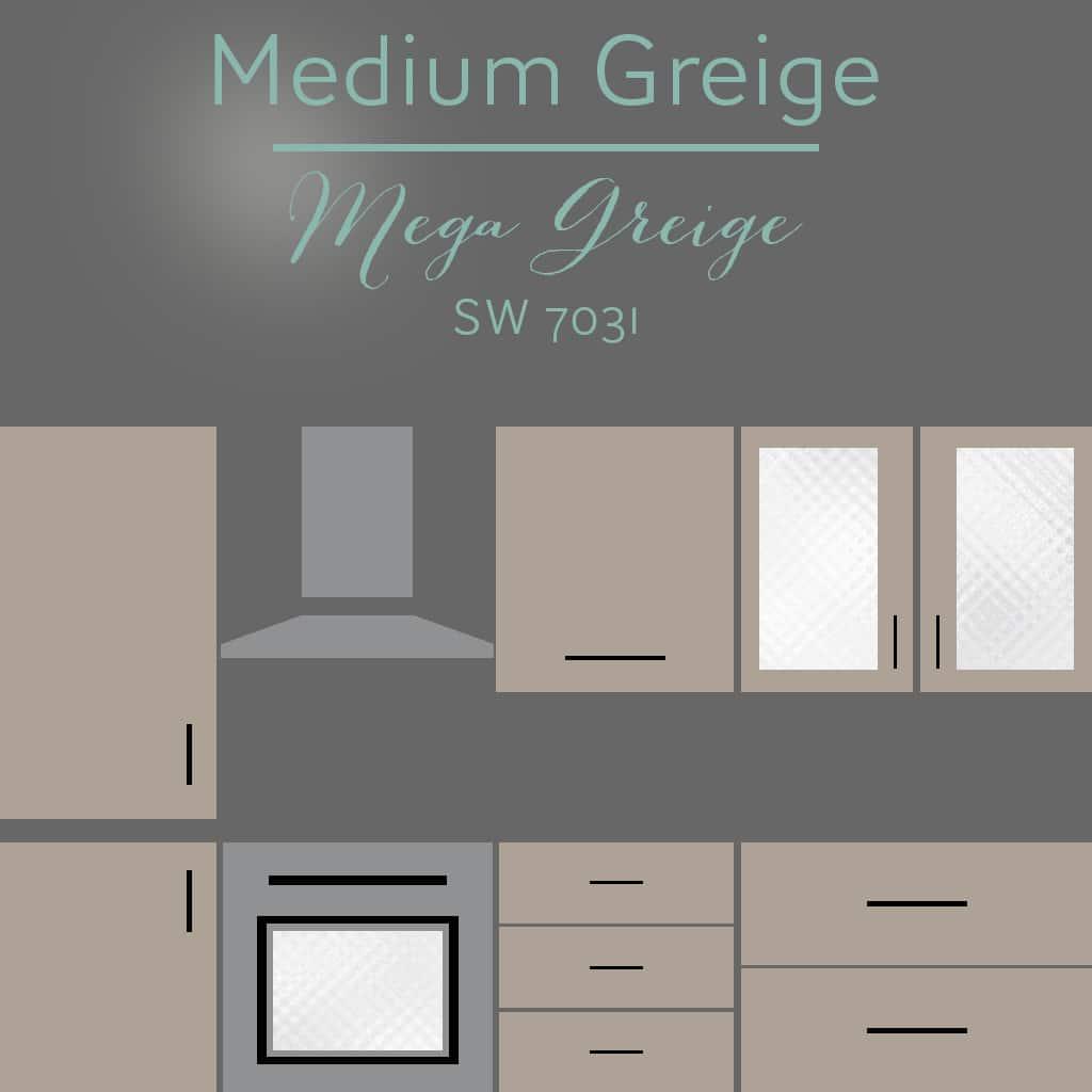 mega greige cabinets