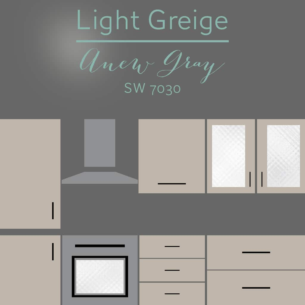 anew gray cabinets