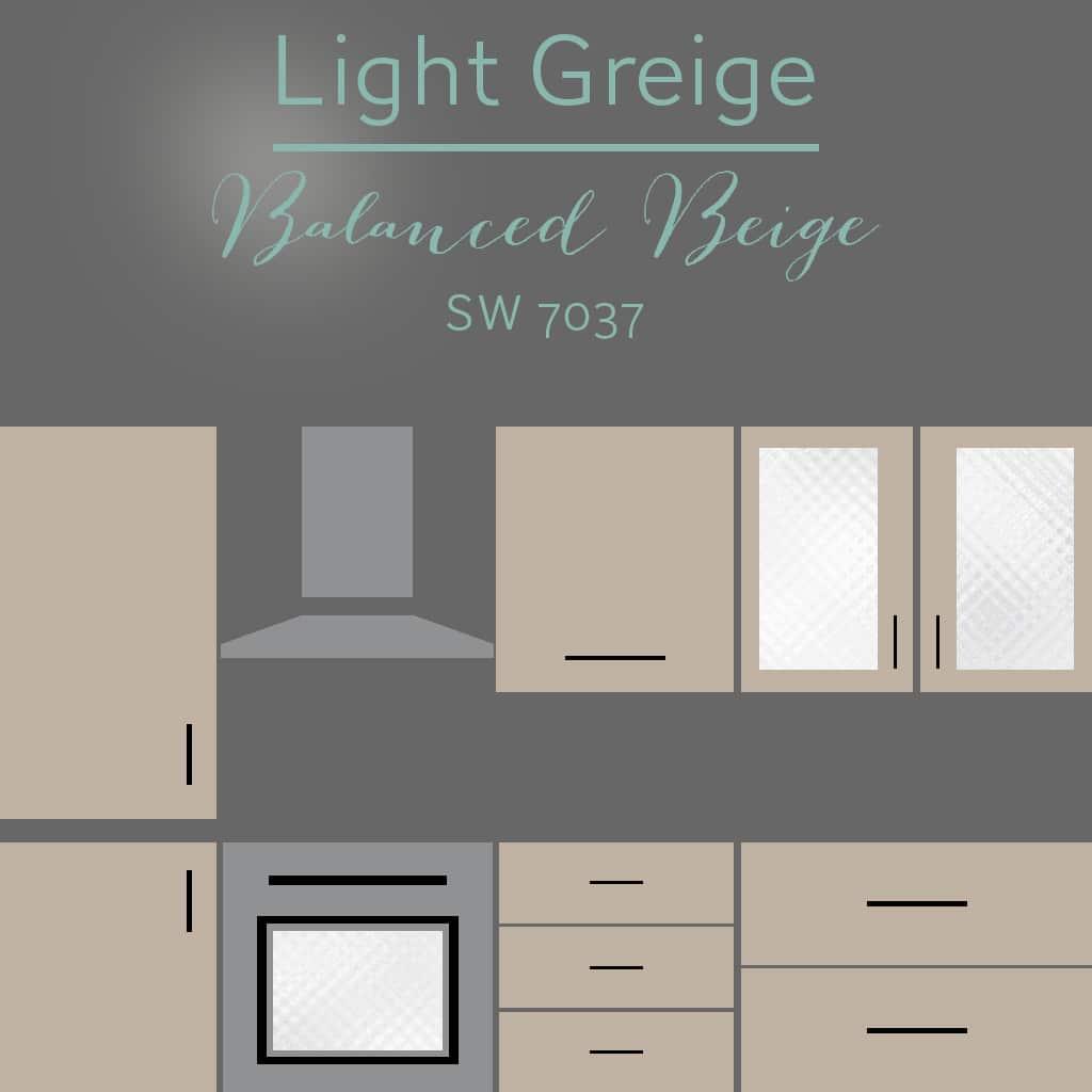 balanced beige cabinets