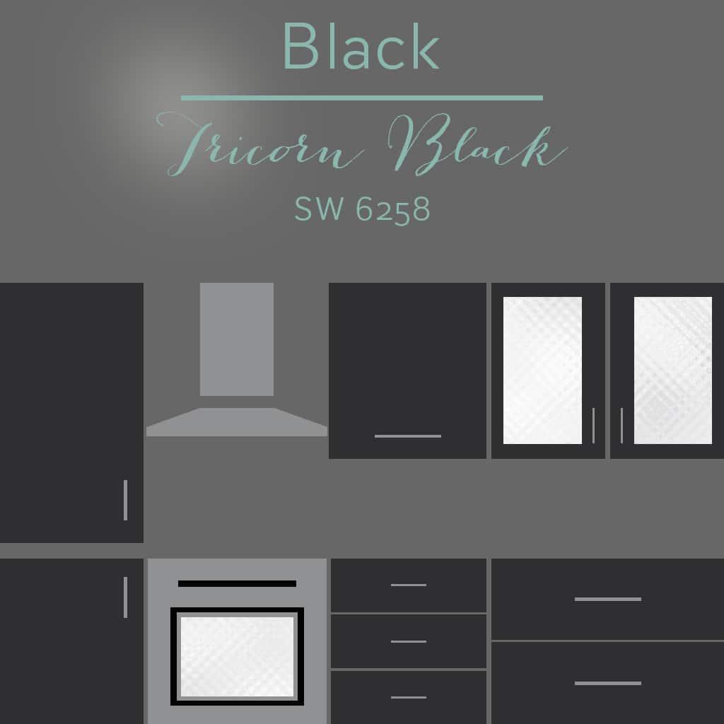 tricorn black cabinets