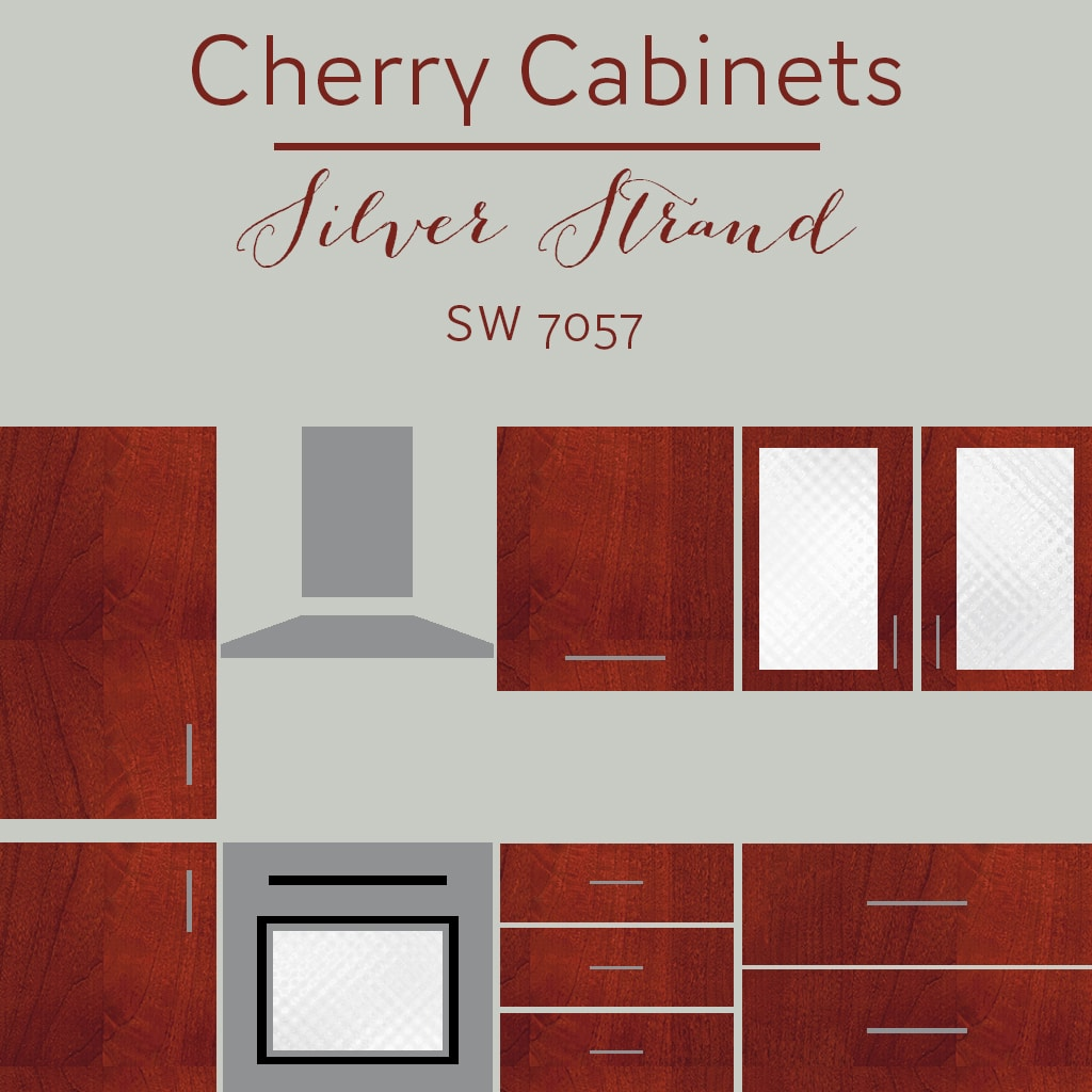 cherry cabinets silver strand wall color