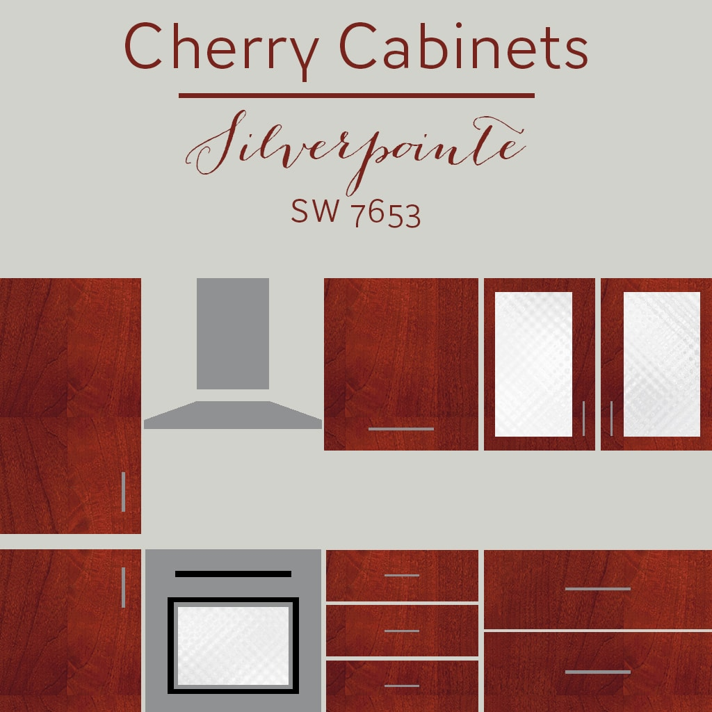 cherry cabinets silverpointe wall color - The Best Wall Colors To Update Stained Cabinets