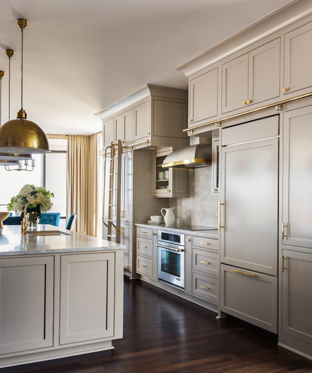 Anew Gray kitchen cabinets by Tobi Fairley - Color Wheel Update: Anew Gray