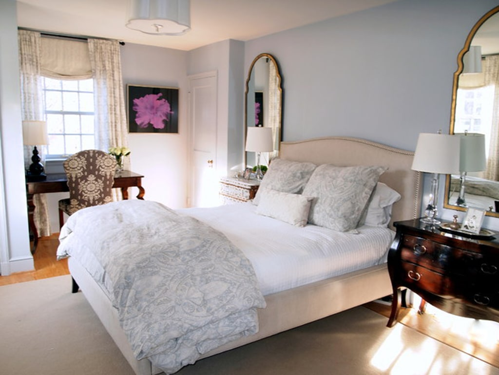 Bedroom in Lazy Gray by Jenkins Baer Associates - Color Wheel Update: Lazy Gray