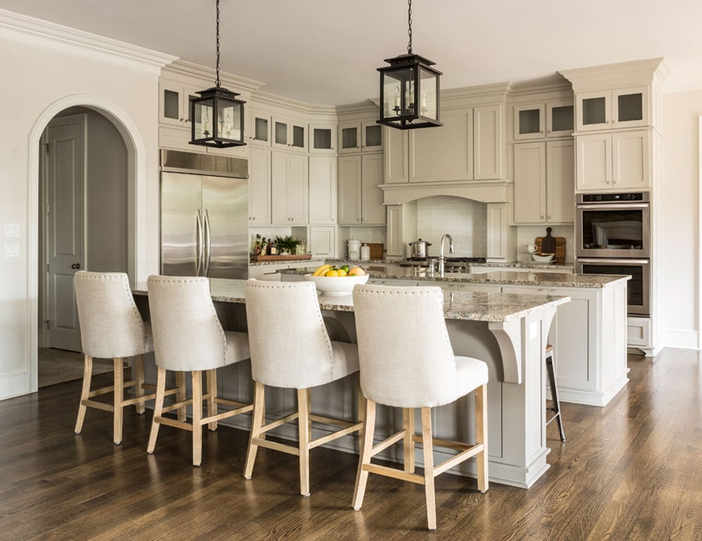 Colonnade Gray on kitchen cabinets by Richard Harp Homes, Inc.