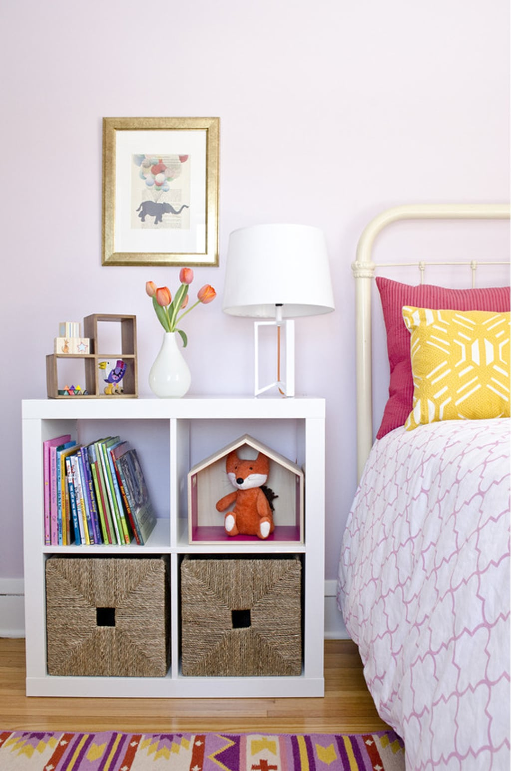 Wallflower in a little girls room by Curbly - Color Wheel Update: Anew Gray