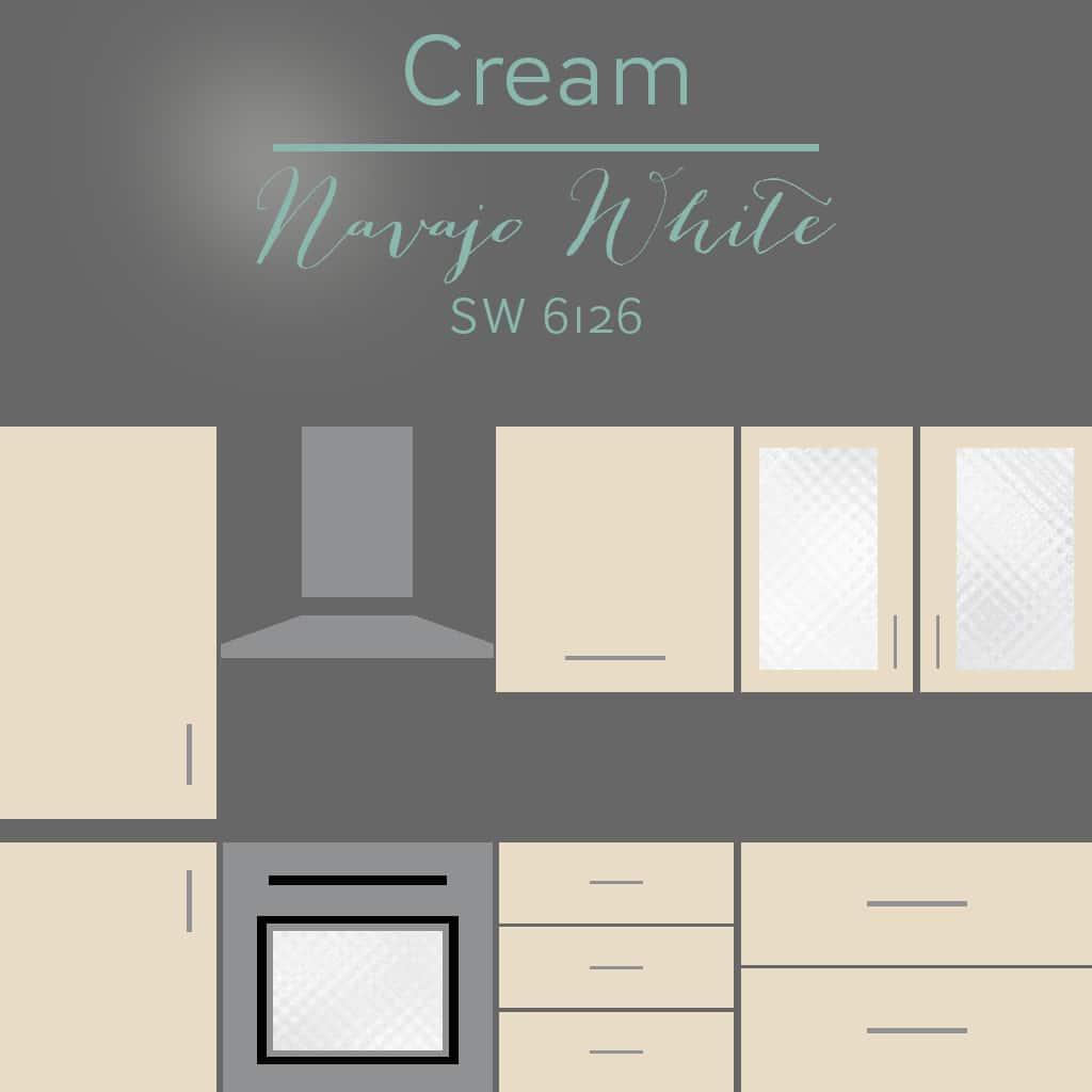 navajo white cabinets