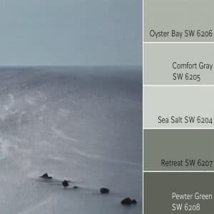Oyster Bay SW 6206 Monochromatic Color Scheme