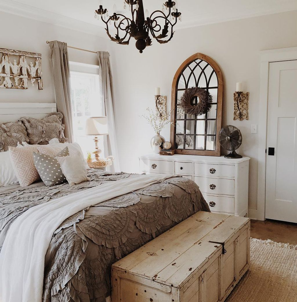Bedroom in Eider White by Brittany York